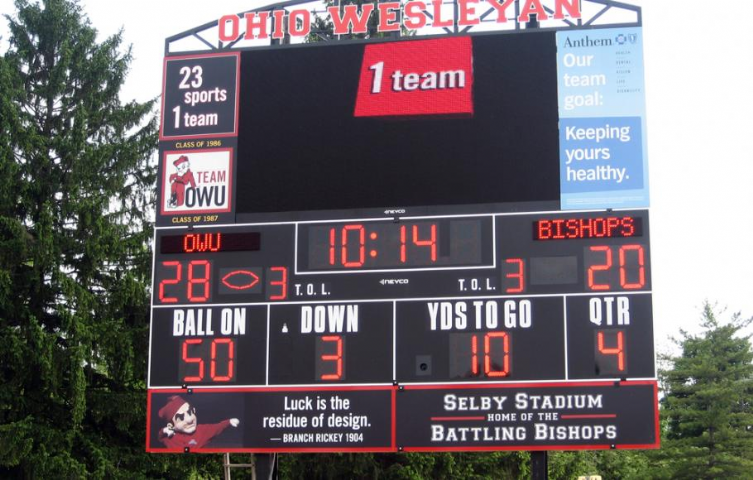 Ohio Wesleyan University Scoreboards