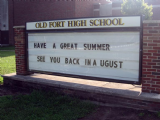 Old Fort High School Message Center