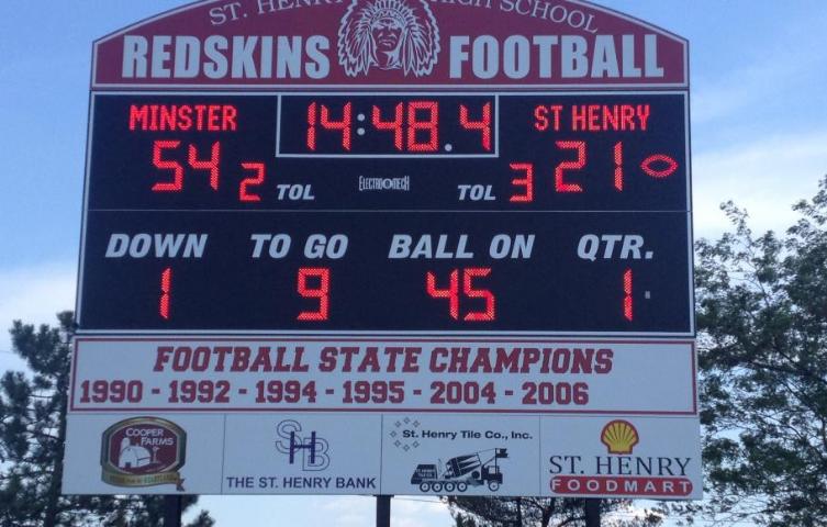 St Henry High School Football Scoreboard Installation