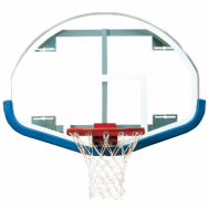 39″ x 54″ Extended Life Competition Fan-Shaped Glass Backboard